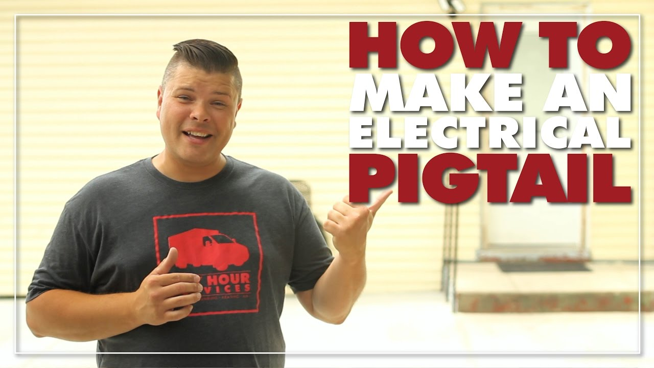 How To Make An Electrical Pigtail Youtube Wiring Outlets With Pigtails