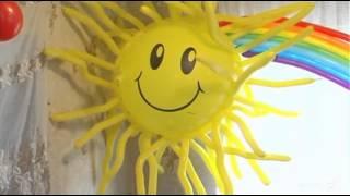 Украшение из шариков на детский праздник