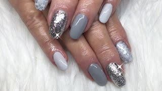 Canni Gel Paint/Vetro Silver Leaf/Vintage Stamped Nails