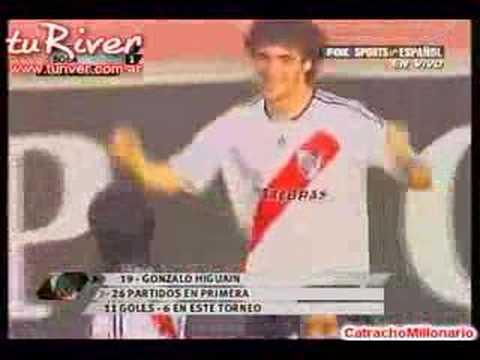 Segundo gol de Gonzalo Higuain. River Plate-Boca Juniors