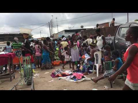Friday morning at the market. Soyo, Angola.