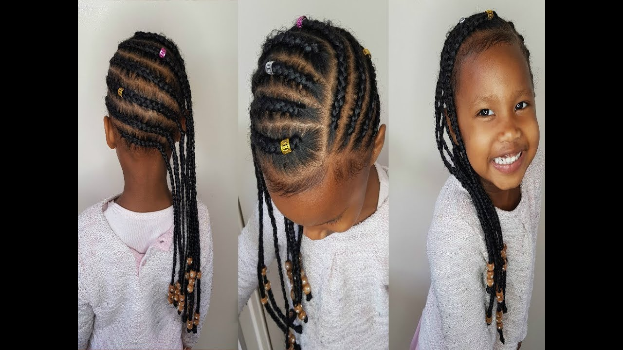 Wonderbaar Lemonade braids for kids | kroeshaar vlechten kids - YouTube LT-79