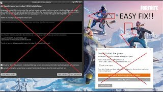 FORTNITE CRASH FIX in season 7( easyanti cheat crash and unreal engine crash fix)