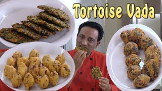 Tortoise Masala Vada - 3 Varities vadas -  Dal Bonda - Palak pakoda