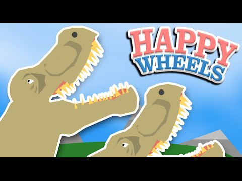MORE DINOSAURS!! | Happy Wheels