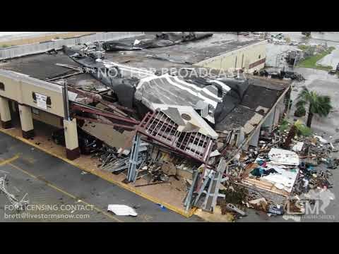Operation Stormwatch - Drone Footage Shows School Gym Destroyed By Hurricane Michael