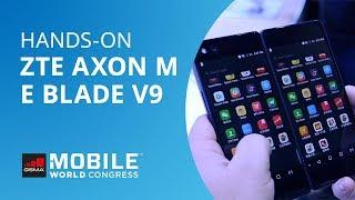 ZTE  Blade V9 e Axon M, o smartphone dobrável [Hands-on MWC 2018]