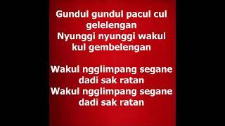 Gambar cover LAGU DAERAH GUNDUL GUNDUL PACUL / JAWA TENGAH
