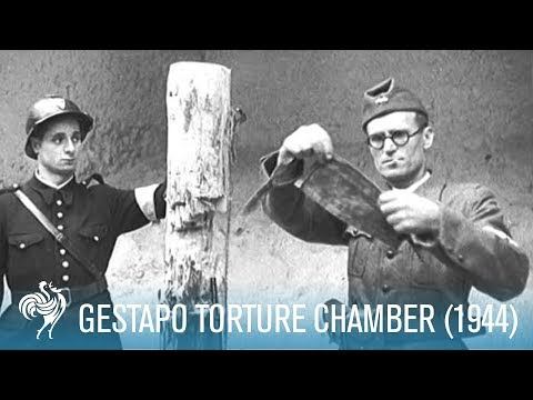 Gestapo Torture Chamber in Paris: World War II (1944) | British Pathé