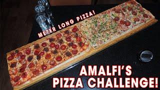 Meter Long Pizza Challenge RECORD at Amalfi Lounge - Food Challenge