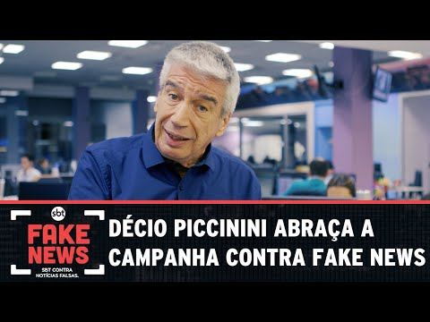 SBT Contra Notícias Falsas: Décio Piccinini abraça a campanha sobre Fake News