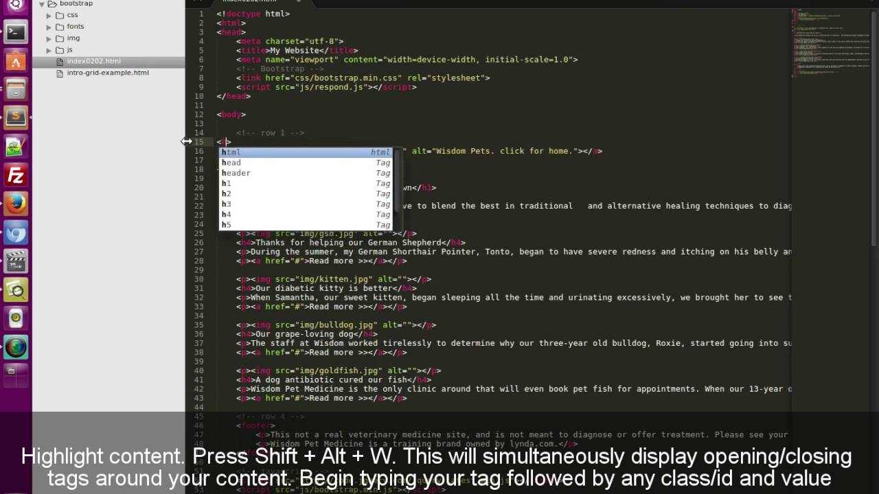 How to Wrap HTML Content In Sublime With Opening and Closing Tags