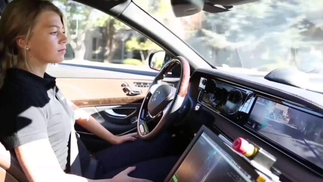 街中で完全自動運転の走行テスト メルセデスベンツ S CLASS - YouTube