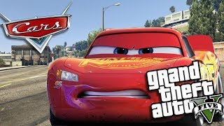 GTA 5 Mods - CARS 3 MOD w/ LIGHTNING MCQUEEN (GTA 5 Mods Gameplay)