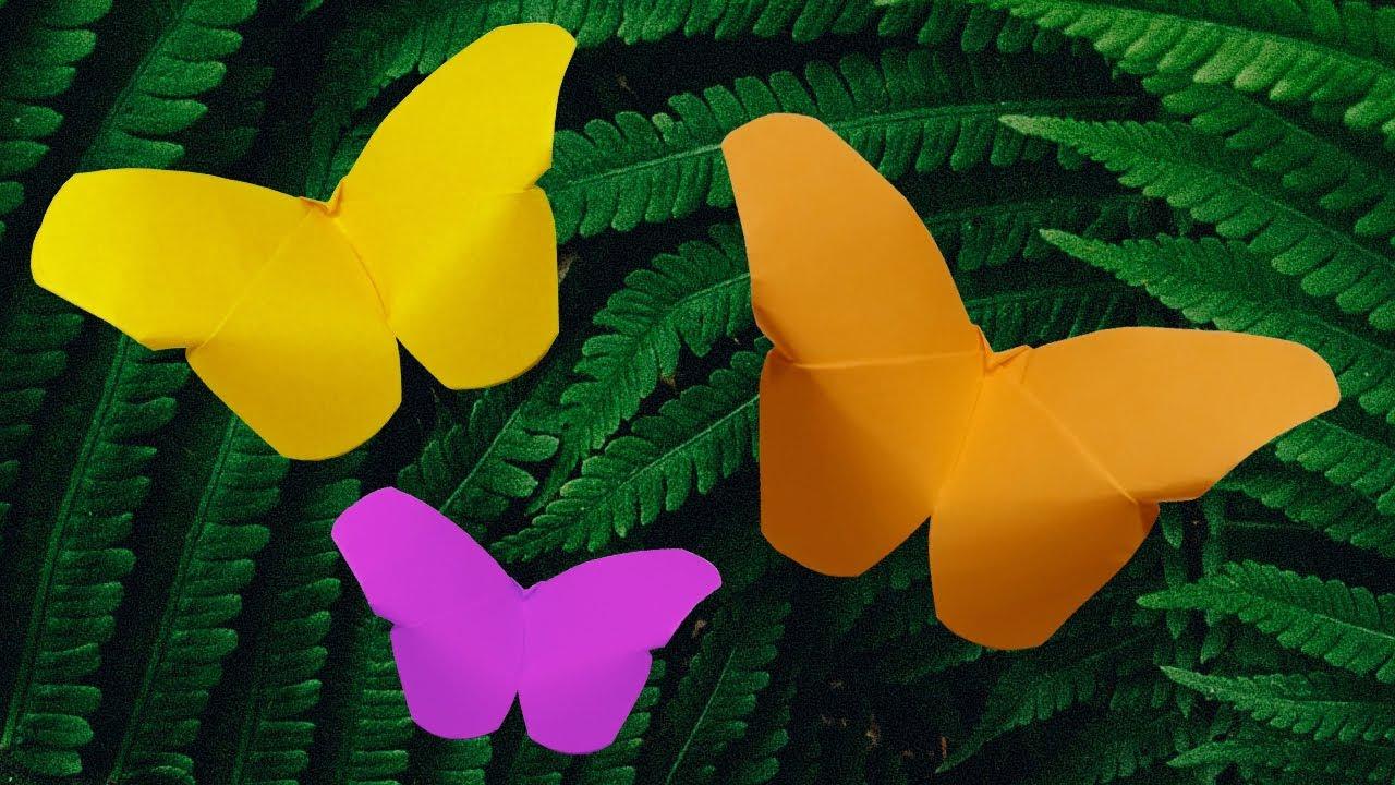 Origami Schmetterling Falten Bastelideen Basteln Mit Kindern Basteln Mit Papier