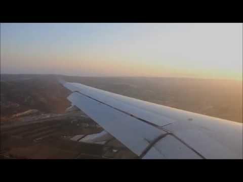 A320 BEAUTFUL Sunset landing at Marseille Provence