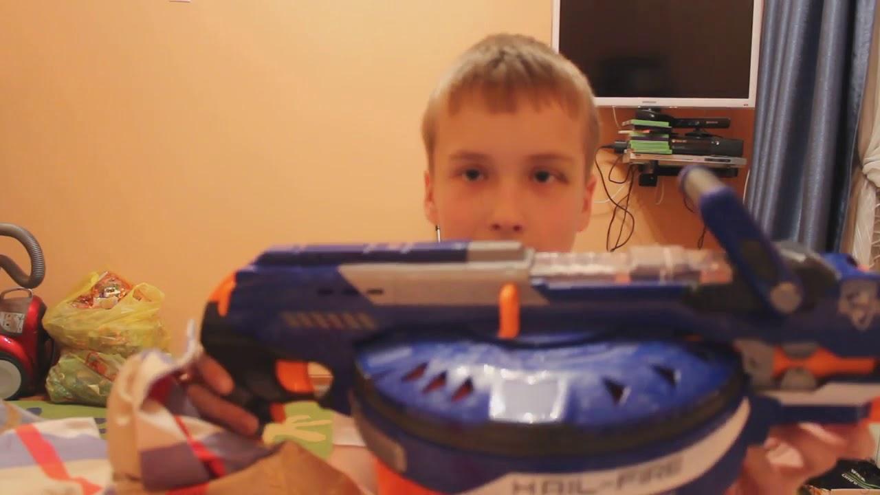 Бластер Nerf Doominator Нерф ордовик Думинатор B1532 - YouTube