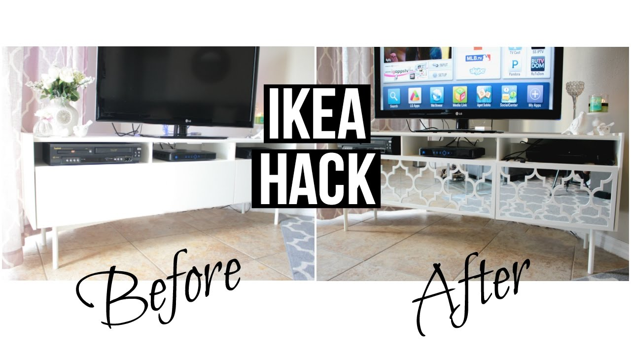 Ikea Hack Mirrored Tv Stand Youtube