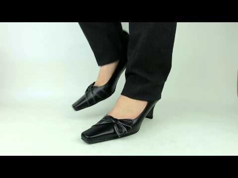 大きいサイズと小さいサイズの靴専門店 フォーマルリボンパンプス6cmヒールCL-633