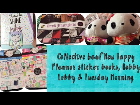 Collective Haul~NEW Michaels happy planner sticker books