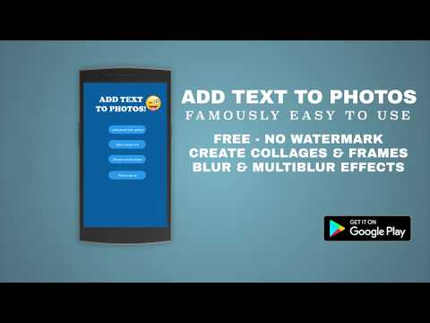 Add Text to Photos App (Android) 2018 Update