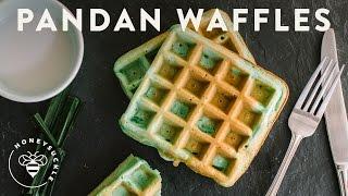Coconut Pandan Waffles - Honeysucklecatering