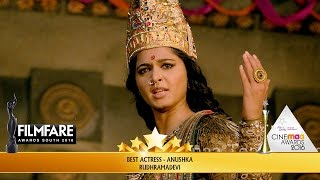 Anushka Wins Best Actress for Rudhramadevi at 63rd Filmfare Awards South 2016