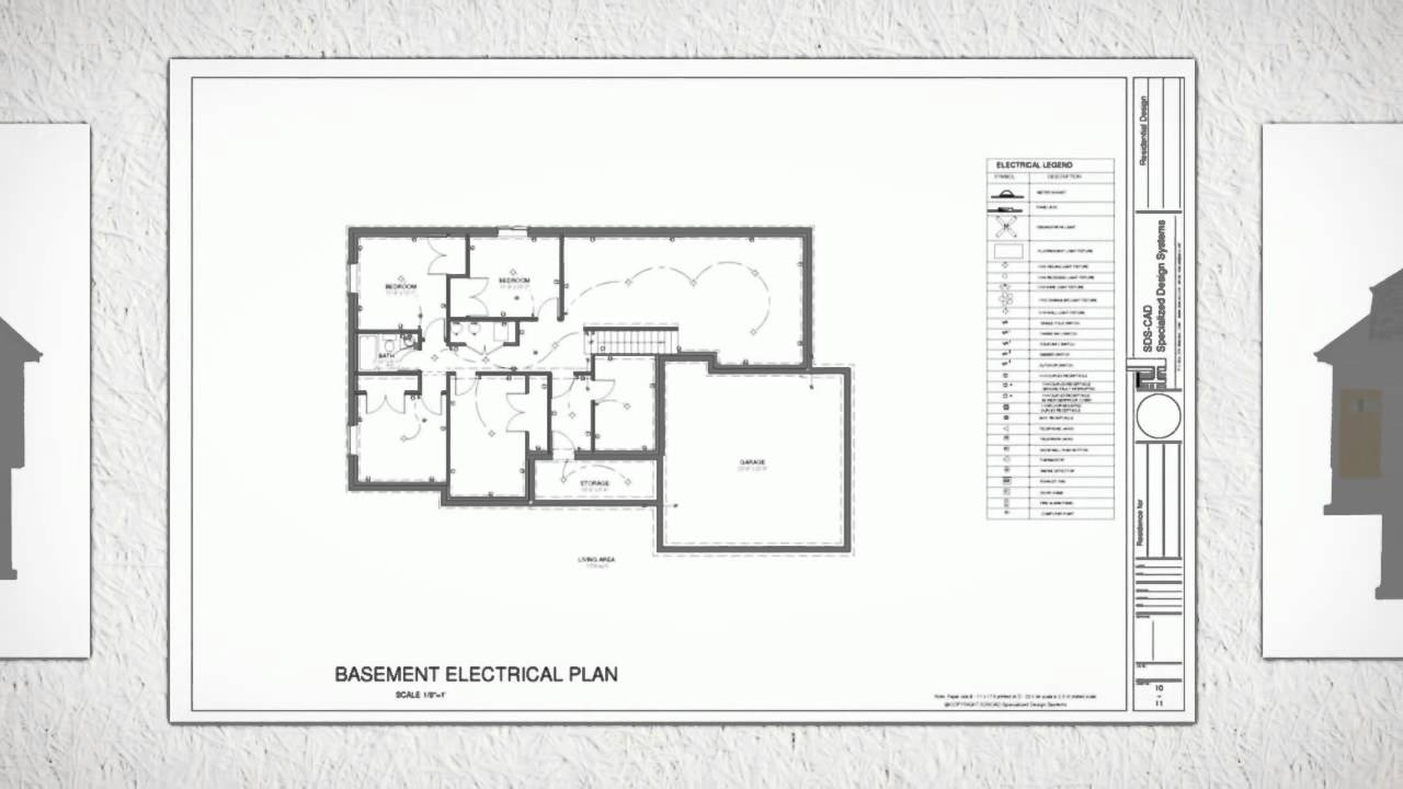 Autocad House Plans Cad Dwg Construction Drawings Youtube Electrical Drawing In