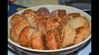 Котлеты с манкой вместо хлеба!Нежнейшие котлетки получаются!