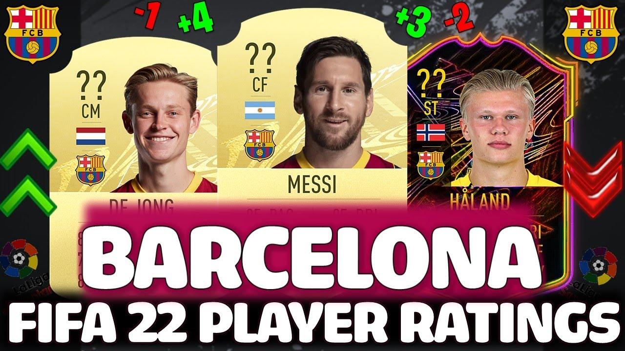 FIFA 22 | BARCELONA PLAYER RATINGS PREDICTIONS!! FT. MESSI, HAALAND, DE JONG ETC.. (FIFA 22 RATINGS)