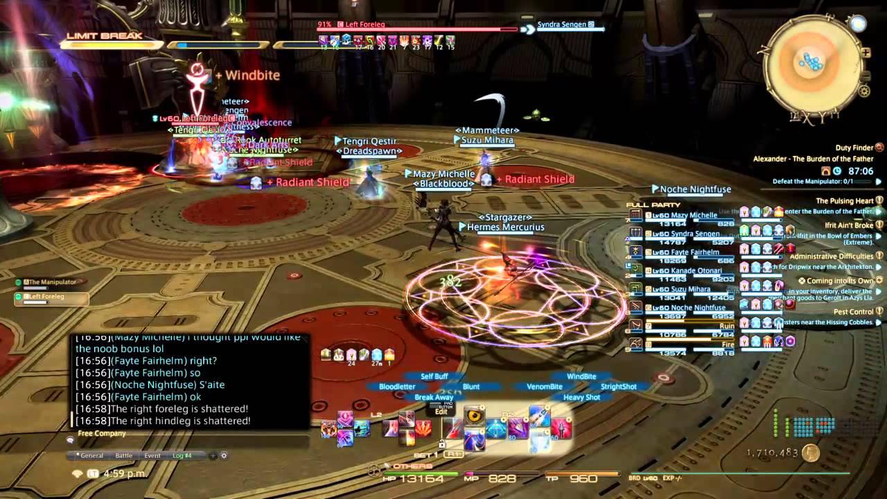 Final Fantasy Xiv Mazymichelle Hatchergaming Alex Normal