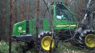 Repeat youtube video Havester John Deere 970 D eco & Forwarder Timberjack 810 c in Full HD