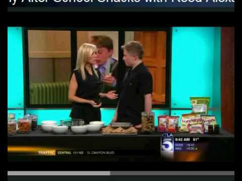 Reed Alexander, Nevel from Nickelodeon's iCarly visits KTLA  with Kewl Snacks