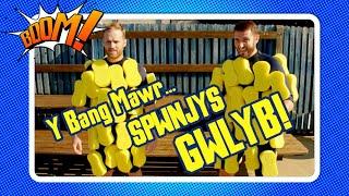Y Bang Mawr... Spwnjys GWLYB! | Welsh Hydro Phobic Sponge Experiment