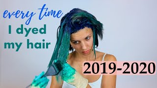 All the times I dyed my hair In a Year