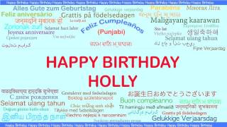 Holly   Languages Idiomas - Happy Birthday