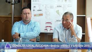 CONSILIUL LOCAL PUCIOASA - Sedinta ordinara a lunii iulie 2019