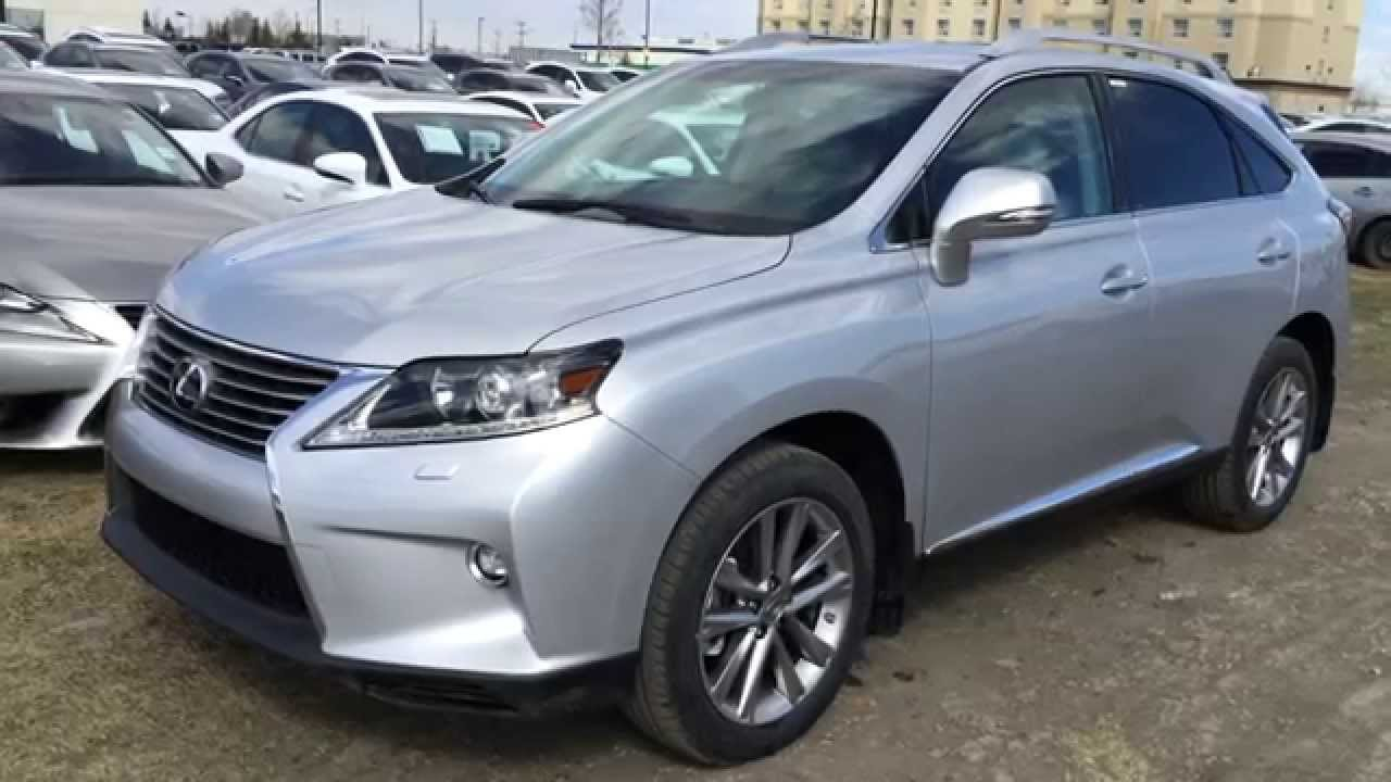 New Silver On Light Grey 2015 Lexus Rx 350 Awd Sportdesign