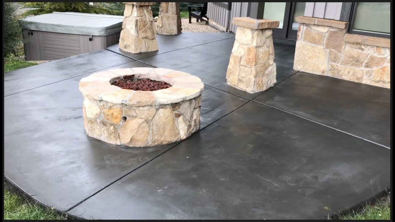 solid color staining concrete