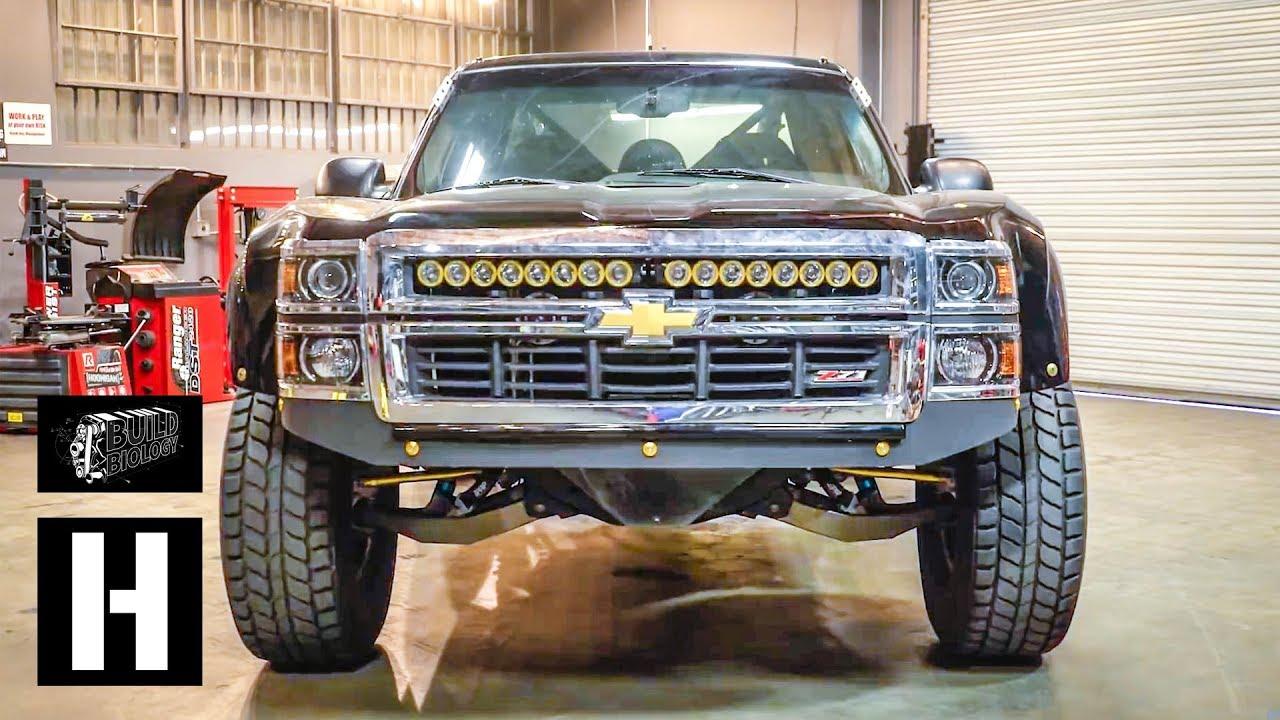 Chevy Mud Flaps >> Anatomy of a Prerunner Truck: KibbeTech's Chevy Silverado - YouTube