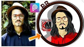 Bhuvan bam(BB Ki vides) víctor pic tutorial de edición de||de dibujos animados de edición de imágenes||arte Digital||PicsArt||