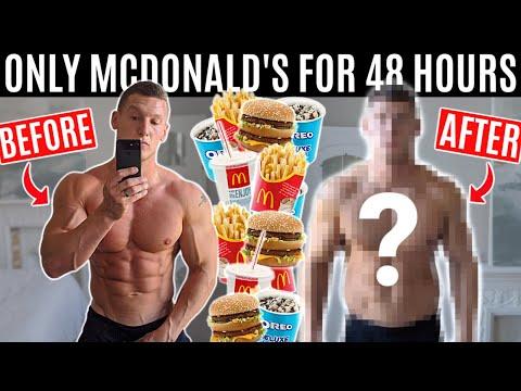 Bodybuilder eats nothing but MCDONALD'S for 48 HOURS!  ** 10,000 CALORIE CHALLENGE **
