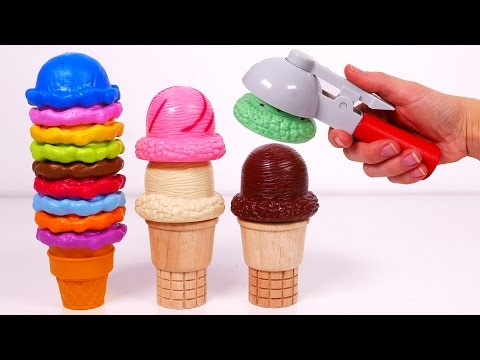 Thumbnail: Ice Cream Cones Playset!! Learn Colors for Kids
