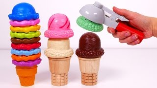 Ice Cream Cones Playset!! Learn Colors for Kids thumbnail
