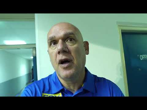 Coach Neven Spahija after the 87:84 over Khimki Moscow