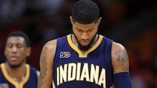 Paul george tells pacers that he plans to become free agent next summer; prefers to play with lakers