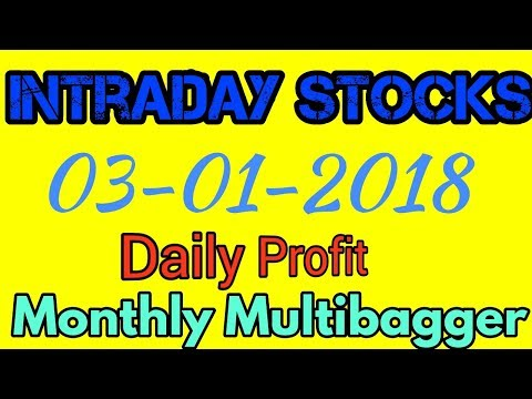 Day trading stocks 03-01-2018  Best stocks with huge potential for intraday