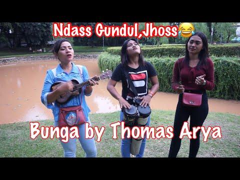 Free Download Bunga By Thomas Arya  Di Cover Sama 3 Pengamen Cewek Cantik | Ndas Gundul🤣 Mp3 dan Mp4