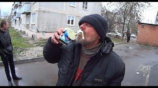 На что готов мужик ради 300 руб / Выпил 3 банки сгущенки за 2 мин