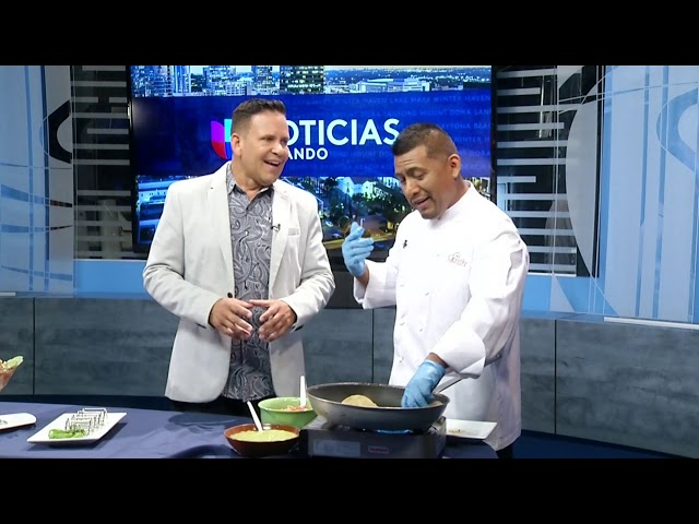 Chef Tello Luna on Univision